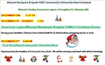 Free Community Fellowship Meal @ American Legion Hall
