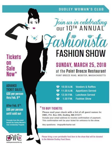 Dudley Women's Club Fashionista Show @ Point Breeze Restaurant