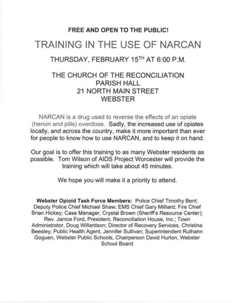 Narcan Training @  Church Of The Reconciliation