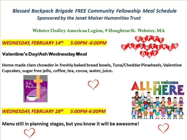 Free Community Fellowship Meal @ American Legion Post