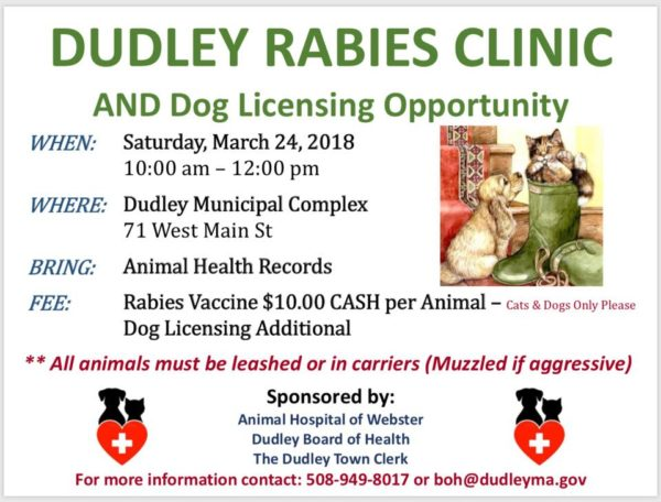 Dudley Rabies Clinic @ Dudley Municipal Complex