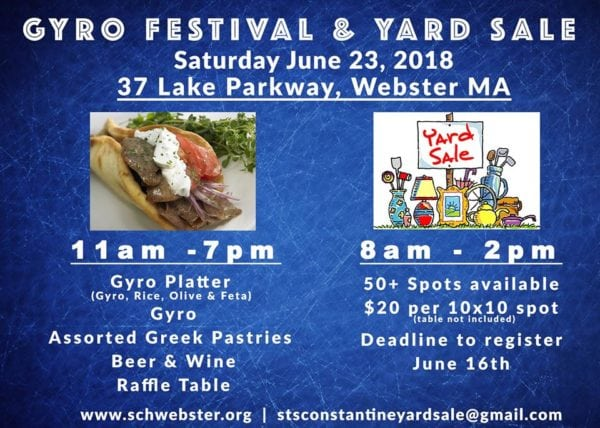 Gyro Festival & Yard Sale @ Greek Orthodox Church