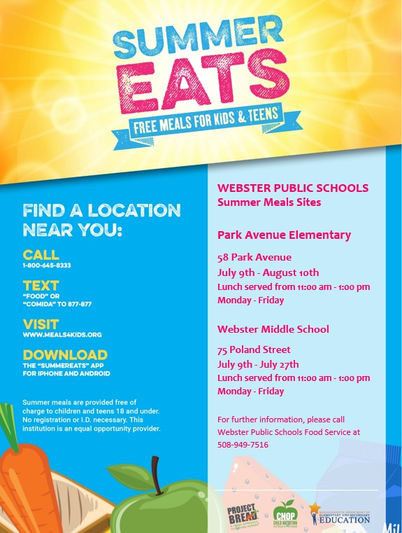 Free Summer Meals For Kids In Webster The Lake 940