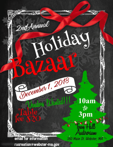 Holiday Bazaar @ Webster Town Hall