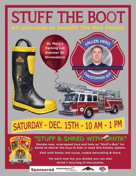 Stuff The Boot Fundraiser @ St. Mary's Parking Lot