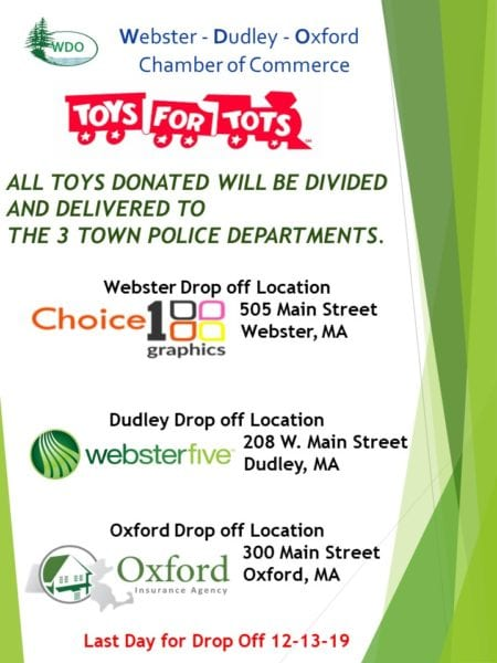 Toys For Tots Drop Off @ Webster - Dudley - Oxford