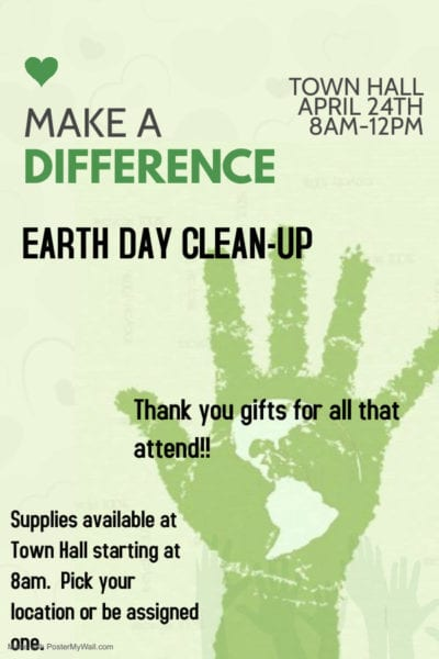 Earth Day Cleanup In Webster @ Webster Town Hall