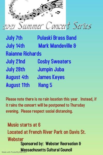 Webster Summer Concert Series @ French River Park