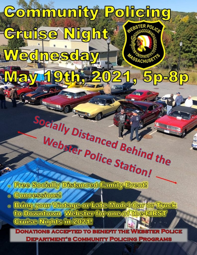 Cruise Night Car Show @ Webster Police Station