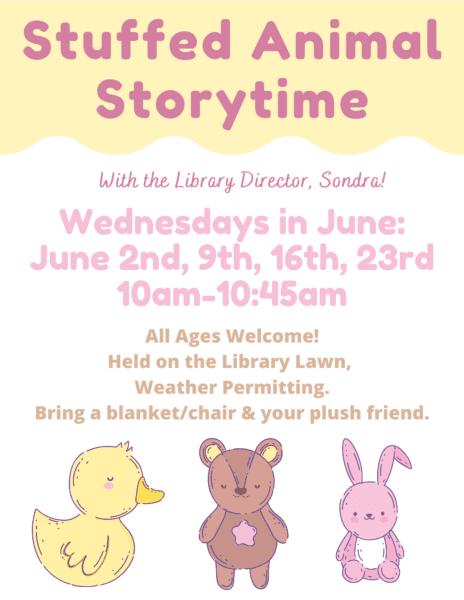 Stuffed Animal Storytime @ Gladys E. Kelly Library