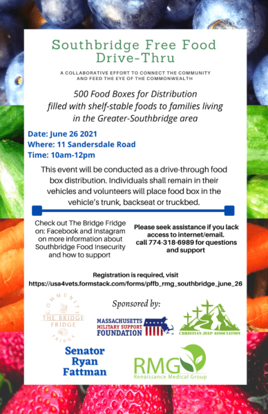 Free Food Drive-Thru @ Southbridge Fridge Bridge