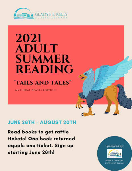 Adult Summer Reading Program Ends @ Gladys E. Kelly Library