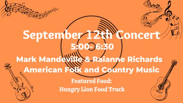 Mark Mandeville & Raianne Richards Concert @ Riverside Park