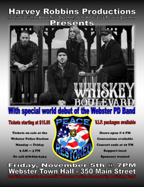 Whiskey Boulevard Concert @ Webster Town Hall